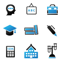 Education sign,icon set,vector