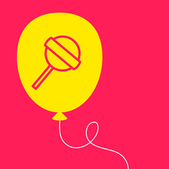 balloon with a  Lollipop.