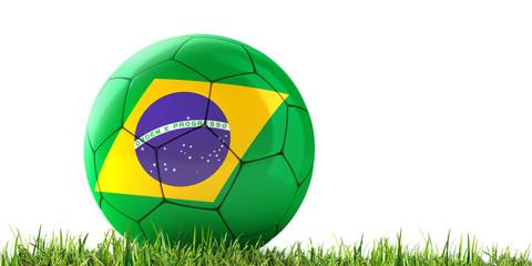 Brasilien-Fußball im Gras