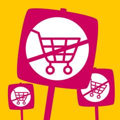 the ban  shopping cart.