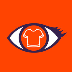 Eye with  T-shirt.