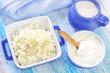 cottage,milk and sour cream