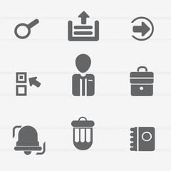 Office and web icons,vector