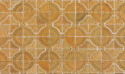 Circle tiles pattern on footpath