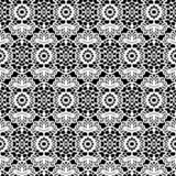 Lace white seamless mesh pattern. Vector illustration.
