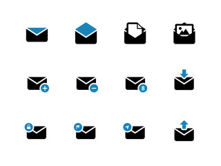 Email duotone icons on white background.