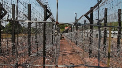 Jail/prison Barb Wire And Fence
