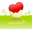 Wiese Herz Ei