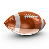 Shiny American football, 3d