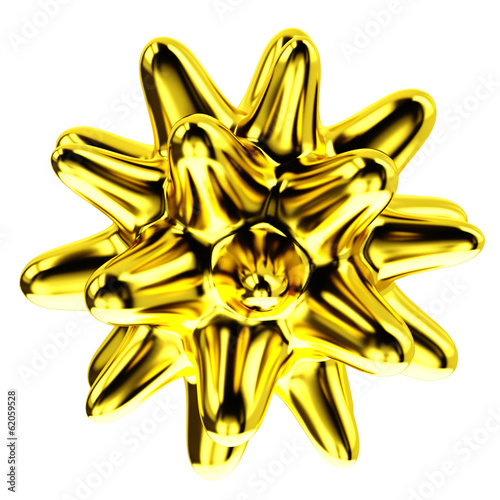 Abstract 3d golden star