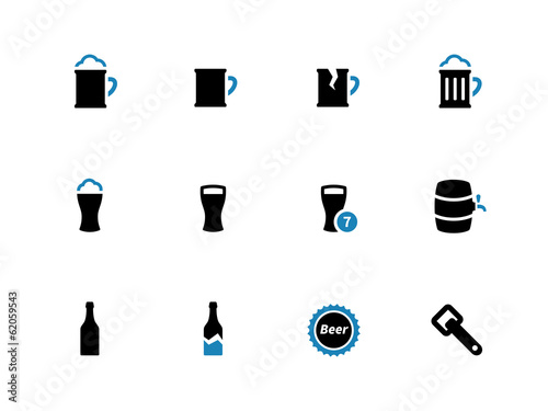 Beer duotone icons on white background.