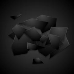 Modern black vector background