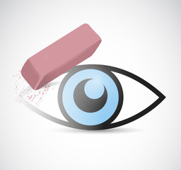 eye being erase illustration design