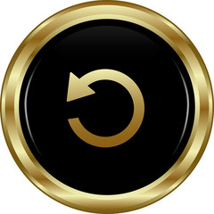 Black gold return button.