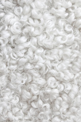 White sheepskin background