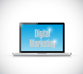 computer digital marketing illustration design