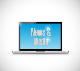 news and online media illustration design