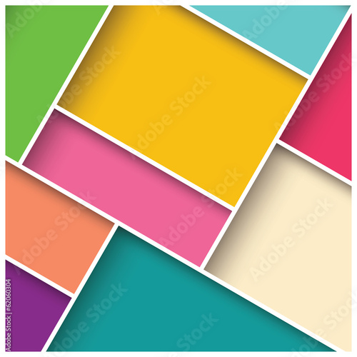 Abstract 3d square background, colorful tiles, geometric, vector © bluelela