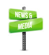 news and media sign illustration design