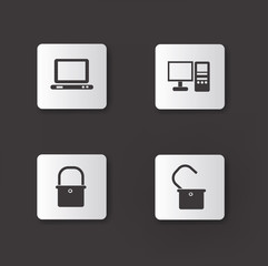 Computer icons,vector