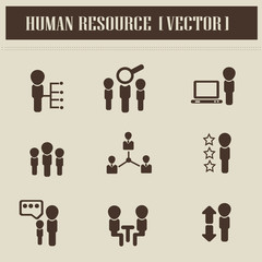 Human resource,business,icons,vector