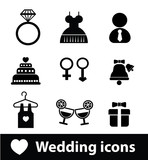 Wedding icons,vector