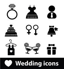 Wedding icons,vector