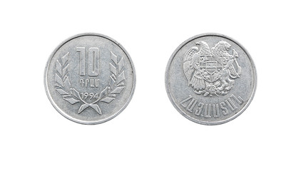 Coin 10 drams. 1994. The Republic of Armenia
