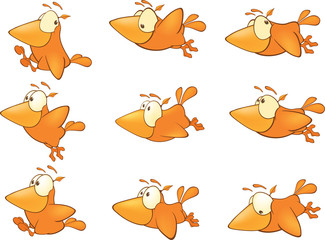 Birdies set cartoon