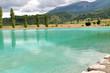 lac aménagé en montagne