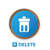 Delete sign,vector