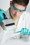 Young biologist sets up PCR reaction