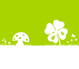 Karte grün Glücksbringer