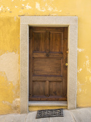 Old door in Saluzzo
