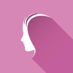 Vector logo Profile of woman