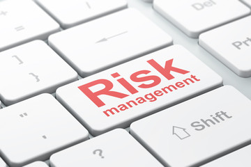 Business concept: Risk Management on computer keyboard