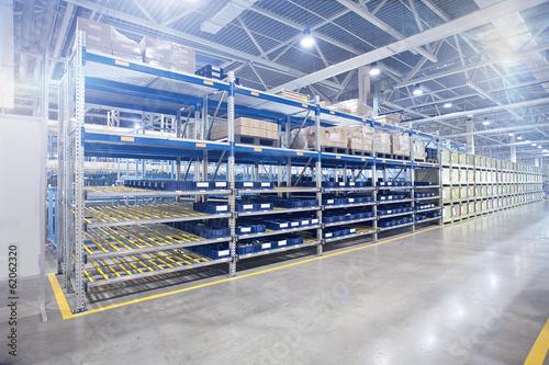 Fotobehang Industrial geb. Modern factory warehouse in workshop