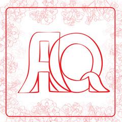 AQ monogram