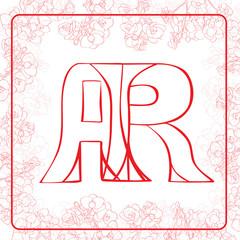 AR monogram