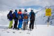 Gruppe Skifahrer