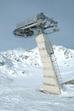 Ski lift end support