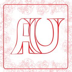 AU monogram