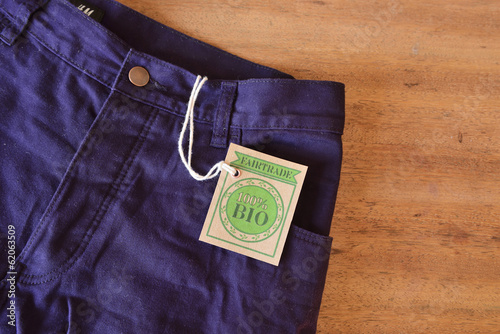 Purple pant made with certified bio or organic fabric