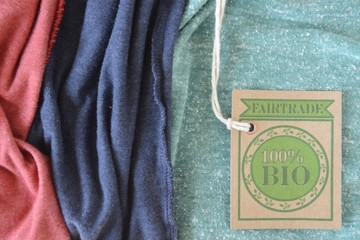 Certified bio organic fabric label.