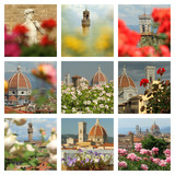 floral collage with images of Florence