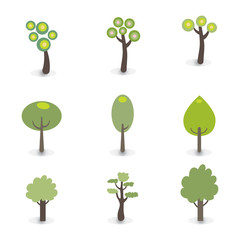 Green tress icons