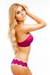 Girl Wearing Pink Underwear.