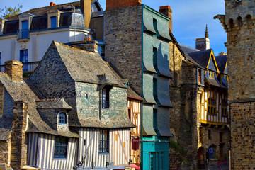 Vieilles maisons à Vitré, Ile et Vilaine, Bretagne