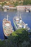Russian Navy warships at the Bay of Sevastopol, Crimea, Ukraine