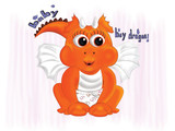 baby boy dragon  orange